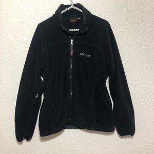 Marmot men's fleece full zip black jacket size m